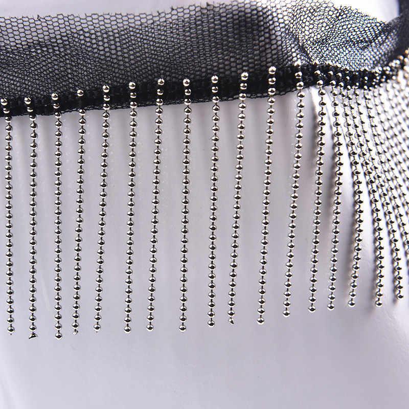 Cinta de algodón 2 metros con Borla Flecos Recorte Prenda Vestido de Fantasía Decoración Manualidades De Costura