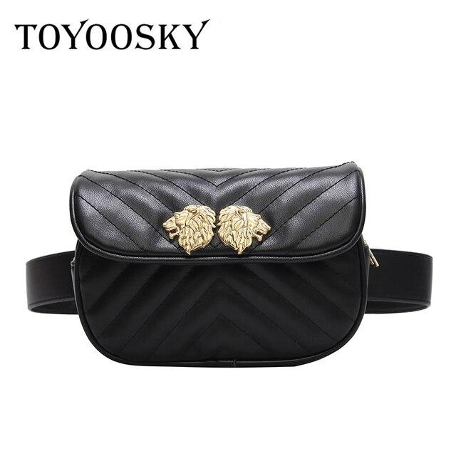 a51d61d7040d TOYOOSKY women waist bag 2018 Newest Fashion Women Waist SAC PU Leather  Belt Waist Bag Ladies Portable Phone Case Female Fanny