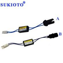2021 חדש SUKIOTO OCB Canbus מפענח T10 LED הנגד עבור LED מנורות W5W t10 canbus מבטל אין שגיאת T10 LED אזהרת Canceller
