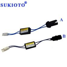 2021 nowy SUKIOTO OCB dekoder Canbus T10 LED rezystor do lamp LED W5W t10 canbus canceller brak błędu T10 LED ostrzeżenie Canceller