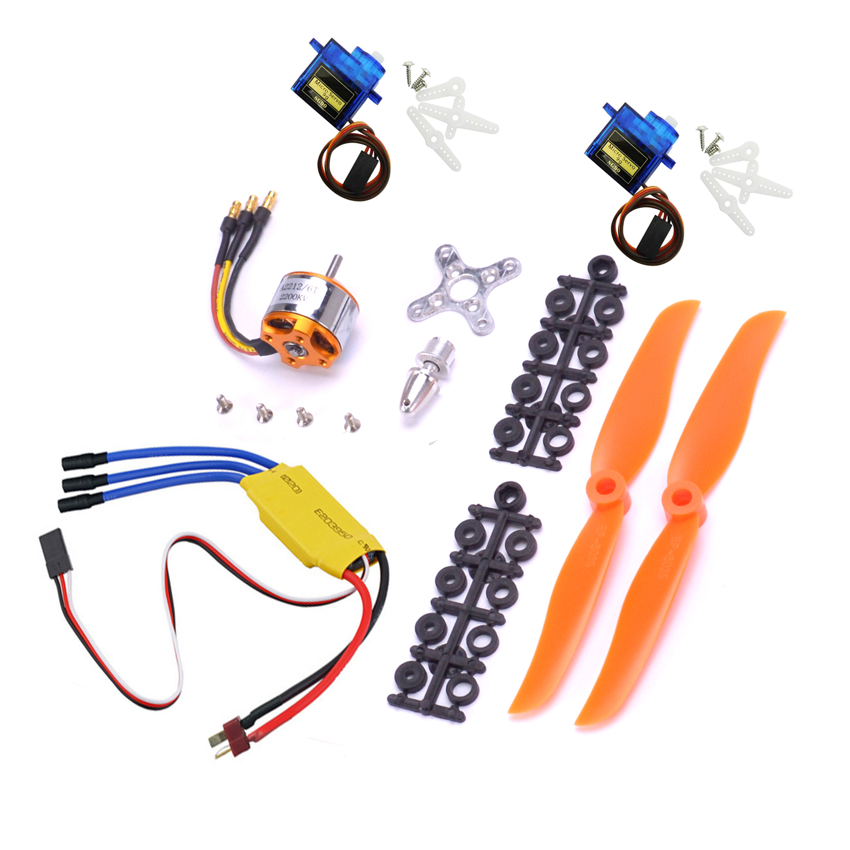A2212 2200KV 2212 Brushless Motor 30A ESC Motor <font><b>6035</b></font> <font><b>Propeller</b></font> SG90 9G Micro Servo for RC Fixed Wing Plane Helicopter image