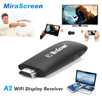 MiraScreen A2 Wireless HDMI Dongle 2.4GHz WiFi Display Receiver 1080P Media TV Stick Support Miracast Airplay DLNA Linux