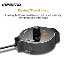 Vehemo Radio Adapter Wireless FM Trasmettitore di Rilevamento della Tensione Auto Trasmettitore FM AUX Stereo FM Adattatore per il Ricevitore Bluetooth