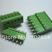 50 шт. шаг 5.08A 5,08 мм 6way/pin прямой штифт клеммный блок разъем подключаемый Тип 2EDCD-5.08A-2EDCR Зеленый горячая распродажа