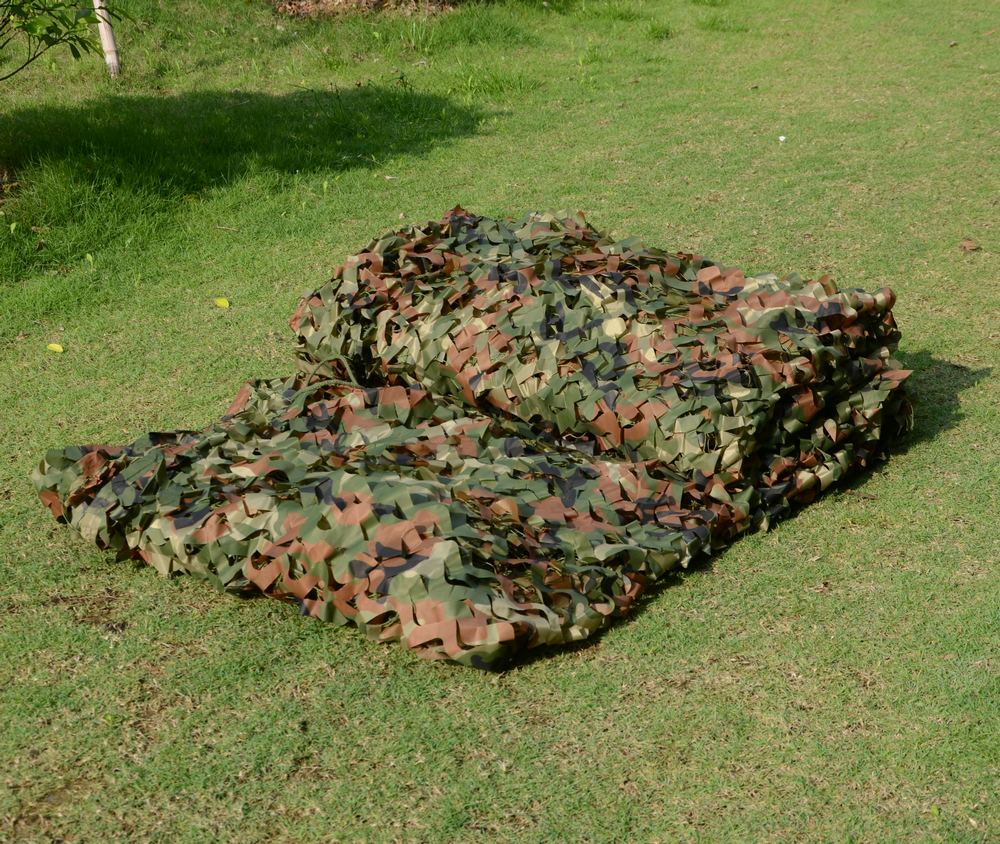 2 X 4M Military Camouflage Net Woodlands Leaves Camo Cover For Camping Hunting