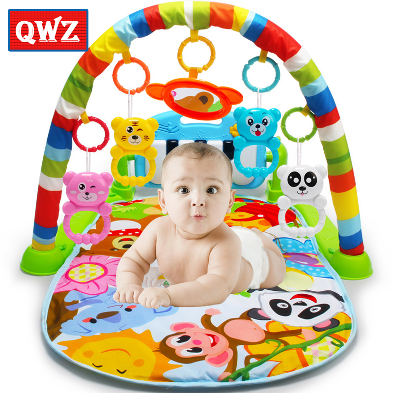 Qwz 3 In 1 Baby Play Mat Rug Toys Kids Crawling Music Play