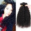 Топ Продаж Перуанской Глянцевая Человеческих Волос Weave Kinky Вьющиеся 3 Шт. 7A Перуанские Волосы Мода Kinky Вьющиеся Febay Волосы Девственницы Странный вьющиеся