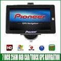 Camión de 7 pulgadas bluetooth GPS de Navegación mtk ce6.0 800 Mhz 256 M 8 GB vehículo navegador con mapas lesswire cámara de visión trasera para global