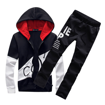 Hooded tracksuit  letter print male