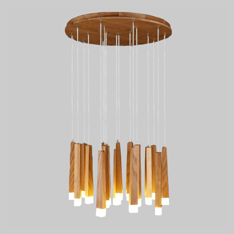 DX wooden modern pendant light Chinese Nordic creative minimalist living room dining wood ball wooden pendant lamp все цены