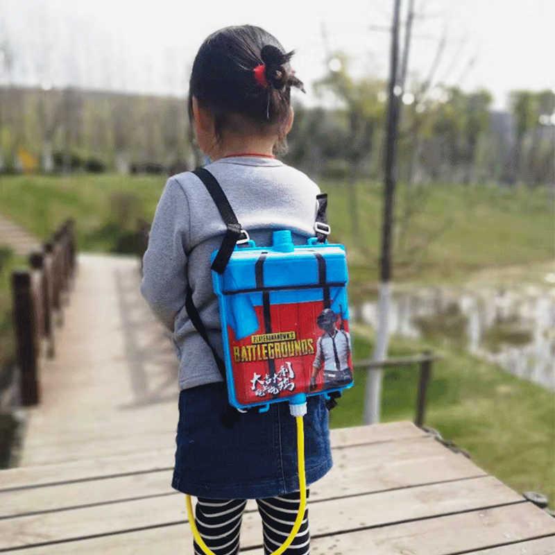Летние игрушечный водяной пистолет рюкзак PUBG для Для детей Играя воды детей Книги об оружии игрушечный пистолет вечерние сувениры