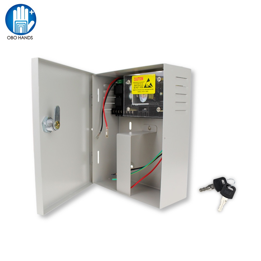 AC90V/260V 5A Access Control Power Supply Box DC12V UPS Backup Battery For All Kinds Of Electric Door Lock With Time Delay