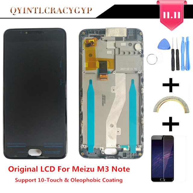 10-اللمس الأصلي LCD + الإطار ل Meizu M3 ملاحظة L681H شاشة الكريستال السائل غيار للشاشة ل Meizu M3 ملاحظة L681H Digiziter aseembly
