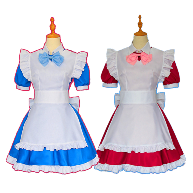 ALICE or ALICE Rise Airi Lolita Maid Apron Dress Uniform Outfit Anime Cosplay Costumes with Headwear Socks