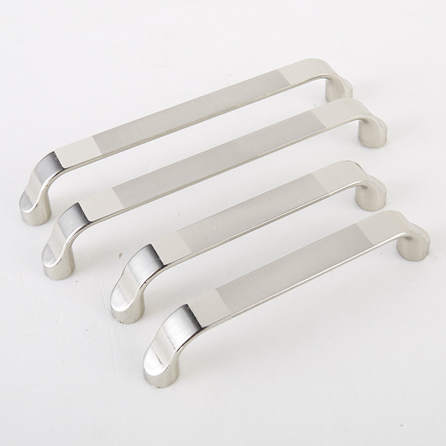 Ambry Door Pulls Zinc Alloy Brushed Bright Chrome Modern Simple Cabinet  Furniture Metal Cabinet Holds Hand