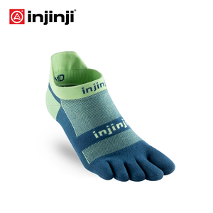 Image 1 - Injinji Fünf finger sport mann turnschuhe Socken Low cut Leichte Dünne Lauf Sport COOLMAX Schweiß absorbent Schnell trocknen Yoga