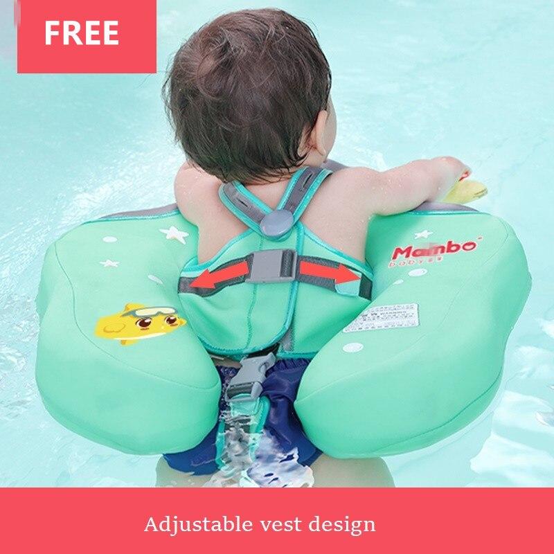 Anneau gonflable gratuit de natation de bébé d'enfants taille flottante aucun gonflage flotte le jouet de piscine pour la baignoire et l'entraîneur de natation