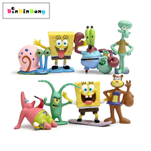 Animation Kawaii SpongeBob Patrick Star Model Action Figure Toys Doll Cartoon Sponge Bob Mini Figure Toys Children Gift cheap binbinbong Unisex Movie TV Finished Goods Peripherals Western Animiation Soldier Finished Product 6 years old 3 years old