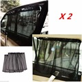 GLCC 1 Pair Black Car Side Window Sunshade Curtain Automobile Sunshade Curtains
