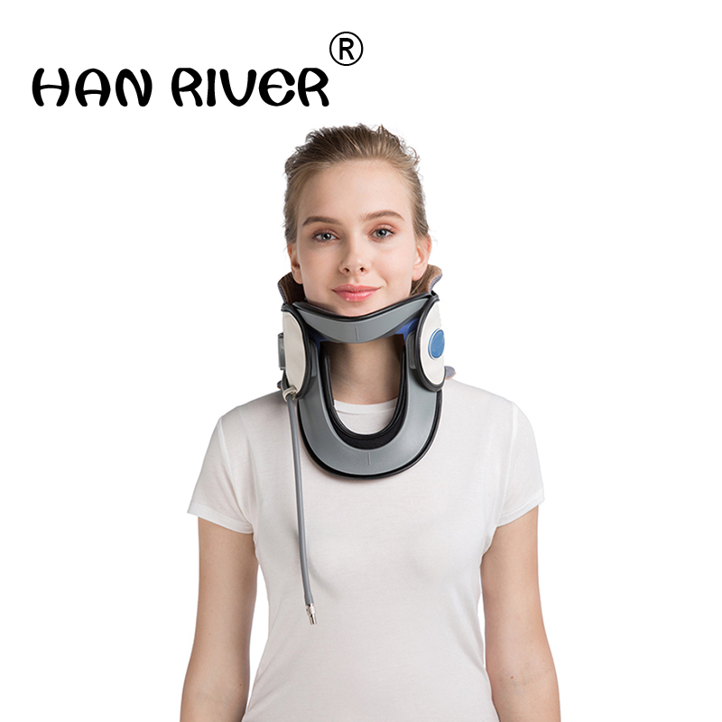 The neck cervical spondylosis inflatable cervical traction apparatus curer correction household medical stretcher neck collar an