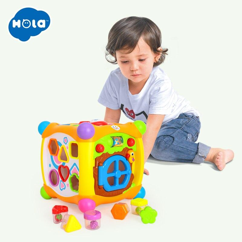 HUILE jouets 936 enfants activité Alphabet Cube bébé jouer jouet 13 blocs empilables apprentissage bébé enfant en bas âge musique jeu jouets cadeaux - 4
