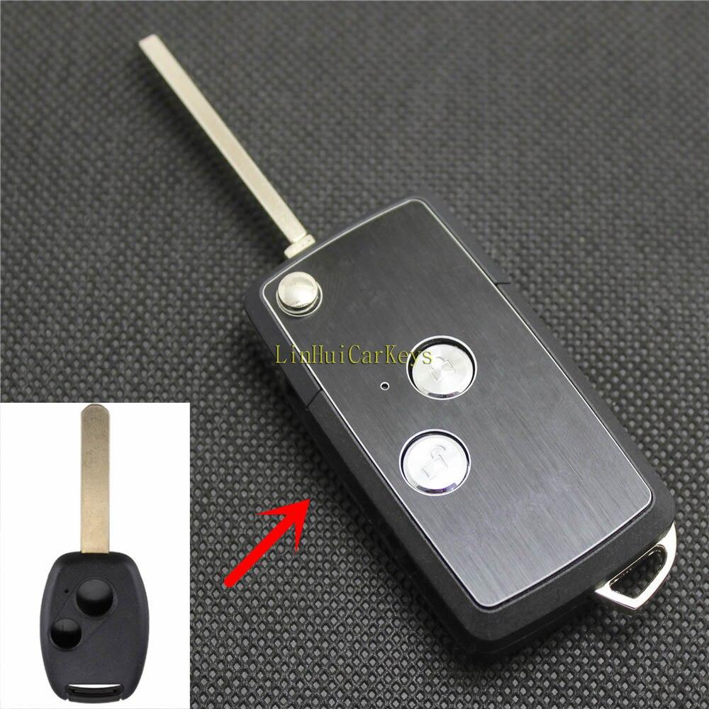Pomme de pin pour HONDA CIVIC CITY FIT CRV ACCORD clés Case 2 boutons lame non coupée haute qualité modifié télécommande clé ABS coque 1PC