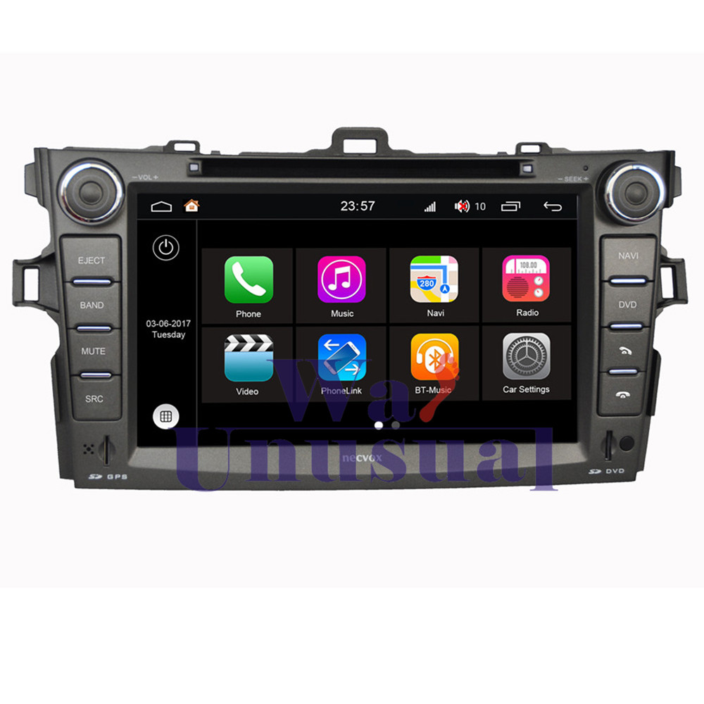 WANUSUAL 8 WINCA S190 Android 7.1 Quad Core 2G+16G Car Multimedia Player for Toyota new Corolla 2006 2007 2008 2009 2010 2011