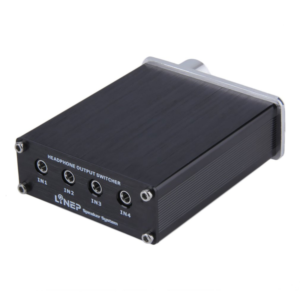 US $23 32 |kebidumei 4 Input 4 Output 3 5mm MP3 Audio Signal Switch  Switcher Digital Multi Channel Black-in KVM Switches from Computer & Office  on