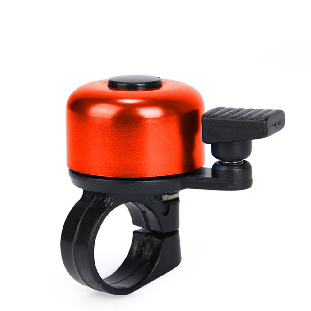 2*Cycling Bike Metal Ping Bell Handlebar Horn Alarm Mini Safety Sound Ring Black