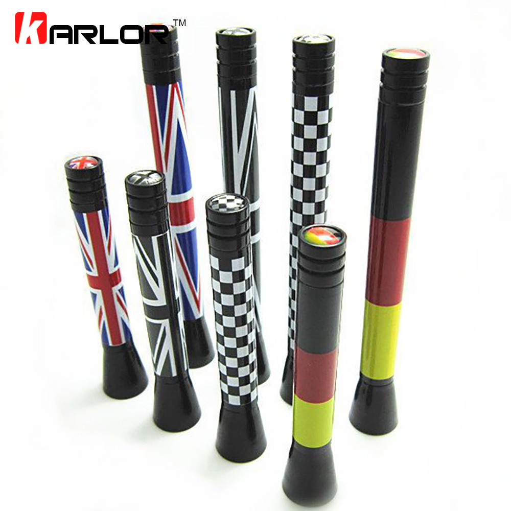 For BMW Mini cooper S R55 R56 R60 clubman countryman carbon fibre car decoration antenna, mini car aerial National Flag England sun protection cool hat car logo for mini cooper s r53 r56 r60 f55 f56 r55 f60 clubman countryman roadster paceman car styling