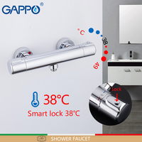 GAPPO Shower Faucet thermostatic mixing valve bath shower for bathroom brass chrome faucet shower mixer thermostat tap