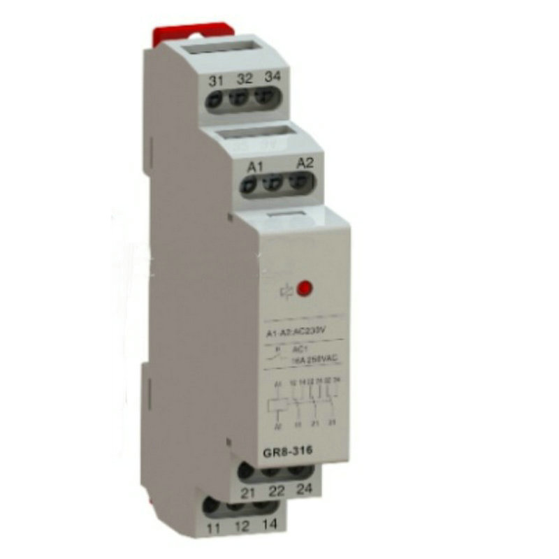 цена на Auxiliary Relay Industrial Control DC AC12V 24V 230V Din Rail Mini Intermediate Relay