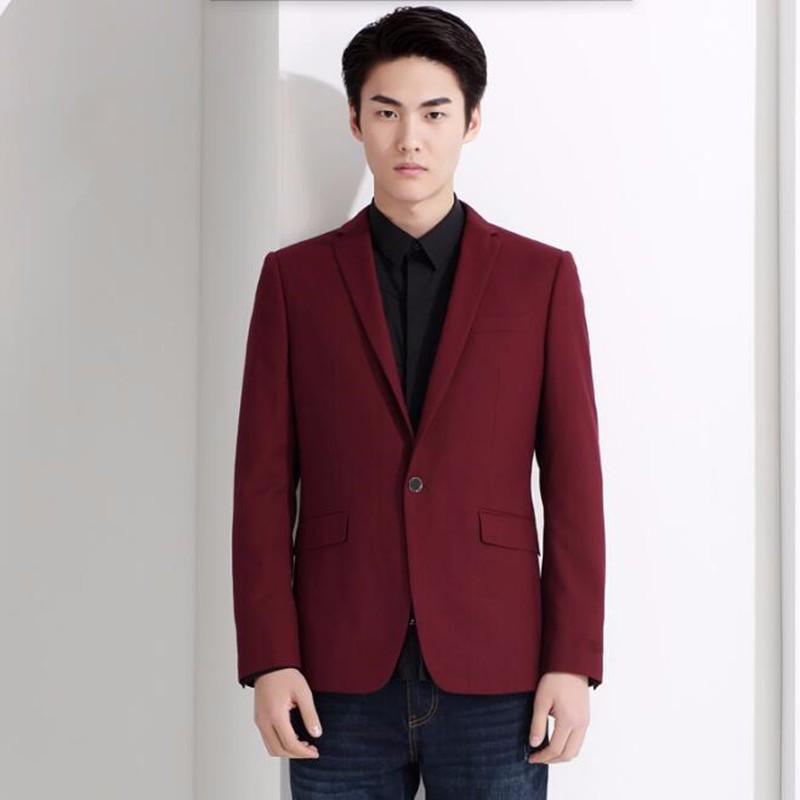 6.1Red and black men suits jacket stylish elegant formal business suits jacket custom made bridegroom wedding tuxedos jacket