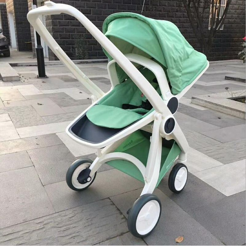 2018 high landscape stroller lightweight folding can sit reclining two-way portable baby hand push umbrella