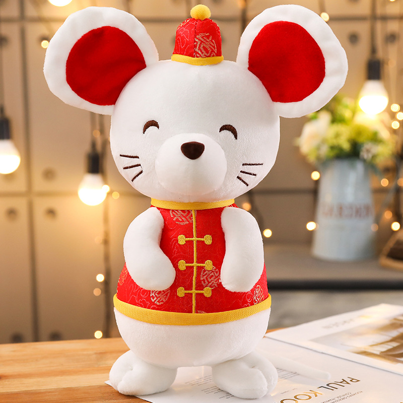 2020 Rat Year Kawaii China Dress Mascot Rat Plush Mouse in Tang suit Soft Toys Chinese New Year Party Decoration Gift|Stuffed & Plush Animals| |  - title=