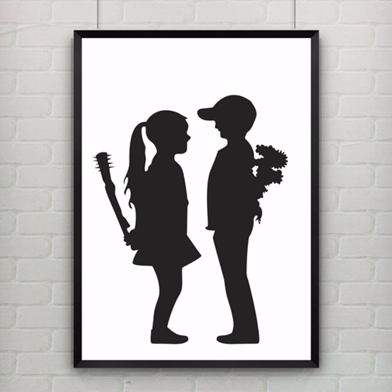 Girl With Balloon by Banksy Poster Canvas Art Cuadros ...