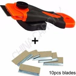 Plastic car sticker remover triumph razor blade spatula scraper with 10pcs 1 5inch extra steel blades.jpg 250x250