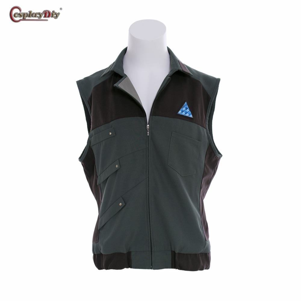 Detroit: Become Human Connor RK800 Agent KARA Cosplay Men's Costume Sleeveless Jacket Male Vest Casual Clothes Halloween Outfits