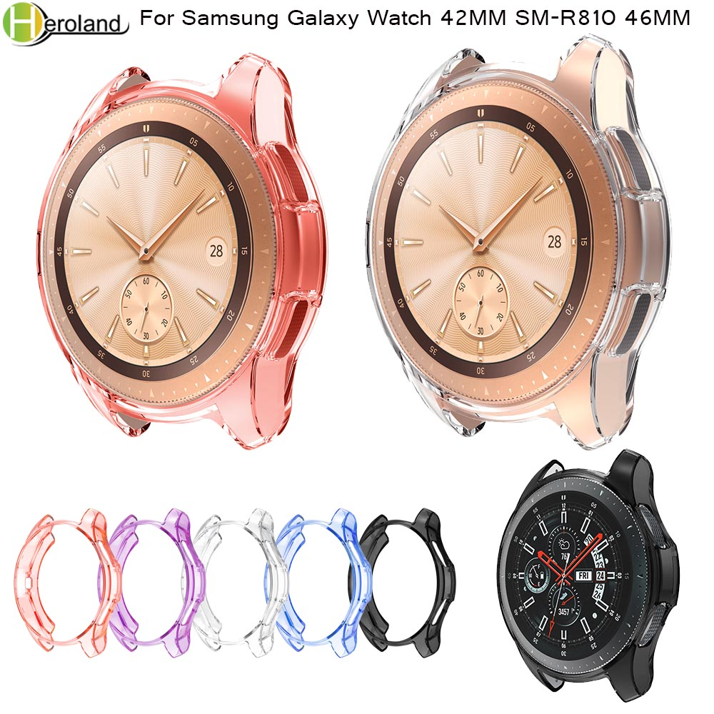 Case 360 Degree TPU Protector Case Cover Shell For Samsung Galaxy Watch 42MM SM-R810 46MM Gear S3 Frontier Soft Protective Shell