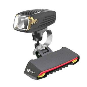 Luz da bicicleta lanterna traseira do laser sem fio controle remoto real luz meilan x1 led luz dianteira lâmpada de ciclismo