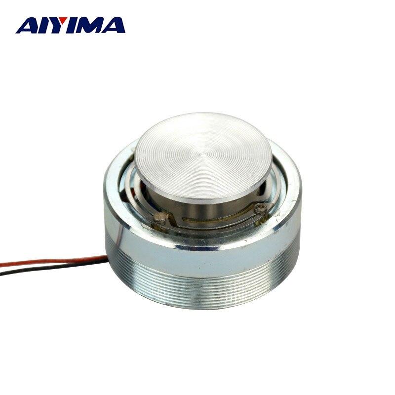 AIYIMA 2 pulgadas 50MM Mini altavoces de sonido portátiles de Audio 4 Ohm 25W de resonancia de vibración de graves altavoz de cuerno de rango completo 120dB dispositivo Anti-Violación de autodefensa altavoces dobles alerta de alarma de ataque de pánico seguridad Personal llavero colgante de bolsa