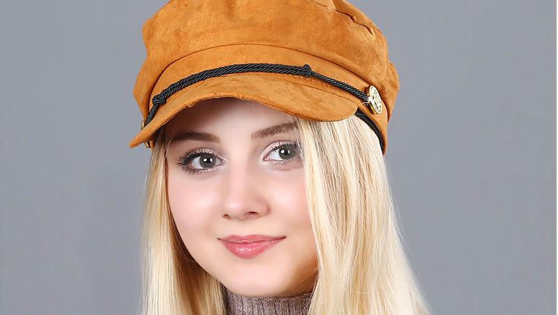 17 Autumn Octagonal Hats Flat Cap For Women Newsboy Beret Hat Female Fashion Metal Button England Style Octagonal Cap 2