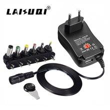 3 V 4,5 V 5 V 6 V 7,5 V 9 V 12 V 2A 2.5A AC в DC адаптер с регулируемой мощностью зарядное устройство для светодиодной ленты камеры мобильного телефона 30 W