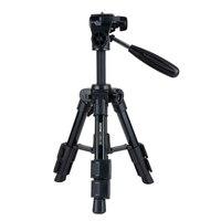Aluminum Professional Tabletop Tripod With 3 Way Pan Tilt Head Quick Release Plate Portable Mini Camera