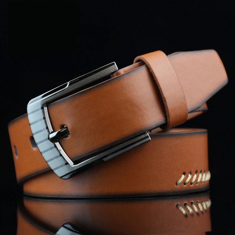 KAWEIDA 2018 New Trend Vintage Men's Genuine Leather   Belt   Casual Pin Buckle Street Style Student Trouser   Belt   Ceinture Homme