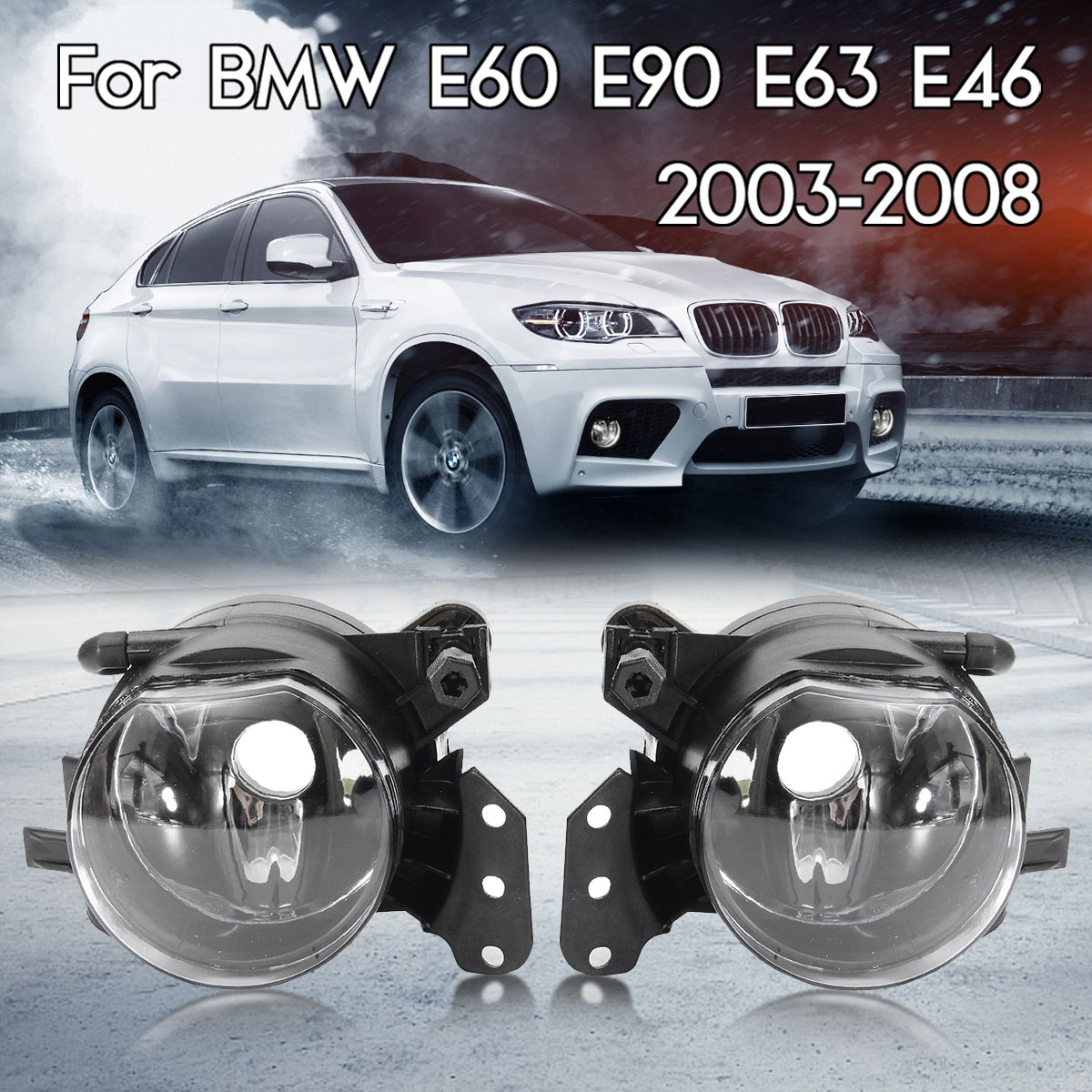 Par coche faros antiniebla lámparas vivienda lente transparente para BMW E60 E90 E63 E46 323i 325i 525i con RU stock