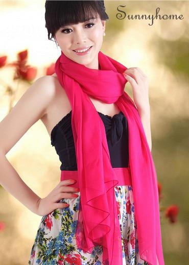 Écharpe cc de haute qualité en soie   Rose rouge, cape longue femme de styliste, cadeau souvenir de style britannique londonien, 100%