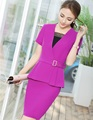 Novelty Purple Slim Formal Professional Blazer Suits With Jackets And Skirt Ladies Office Work Wear Business Women Outfits Set