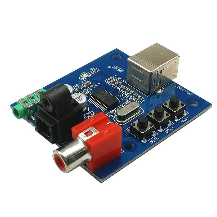 PCM2704 USB DAC USB Fiber Optic Coaxial Analog Output Power For Raspberry Pi Raspbian RaspBMC Windows 7 Need No Drive