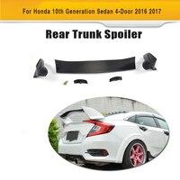Sợi Carbon và ABS Rear Trunk Đua Spoiler Wing cho Honda Civic 10th Thế Hệ Sedan 4 Cửa 2016 2017 Xe Styling